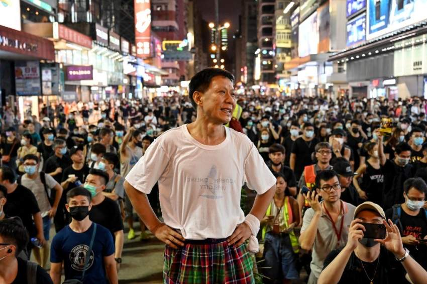 احتجاجات في هونغ كونغ ضد تدفق الصينيين على البلاد
