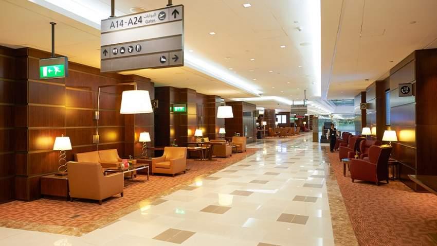 صالة كبار الشخصيات في مطار دبي الدولي