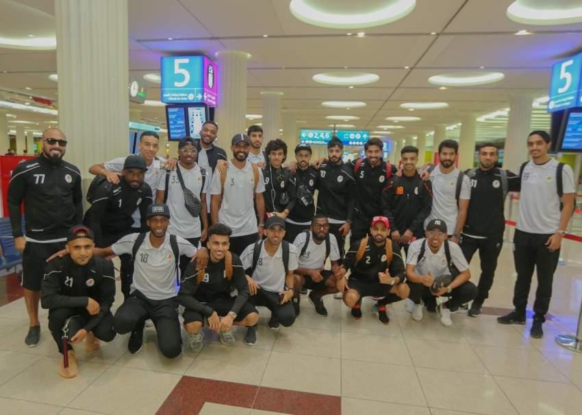 لاعبو عجمان مغادرين إلى ألمانيا.
