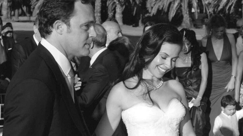 ريا أبي راشد مع زوجها رجل الأعمال الإيطالي