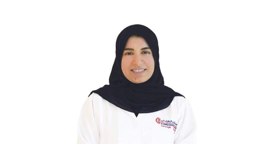الدكتورة ليلى المرزوقي أخصائية أمراض القلب في مستشفى الزهراء في دبي