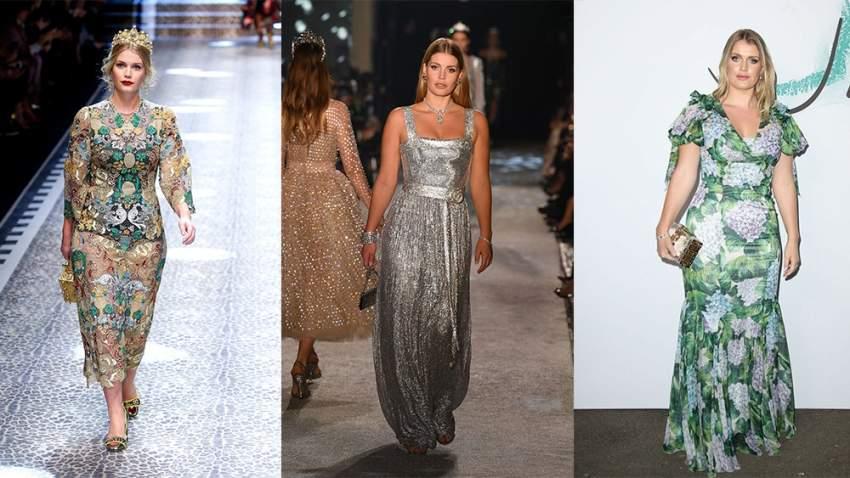 كيتي سبينسر باطلالات مختلفة في عروض الأزياء