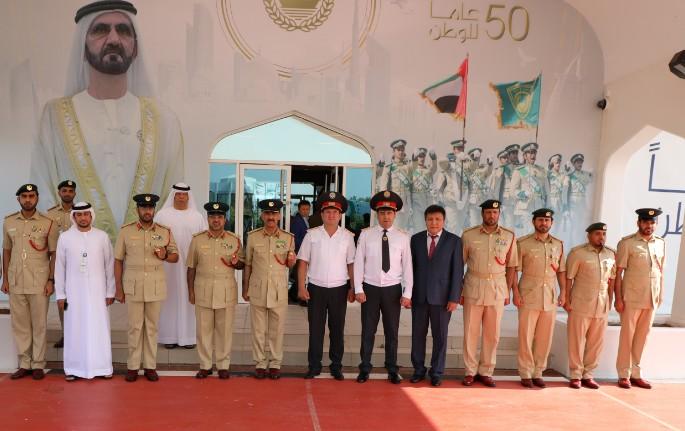 خلال زيارة وفد «داخلية قيرغيزستان» إلى أكاديمية شرطة دبي التعليمية. (الرؤية)