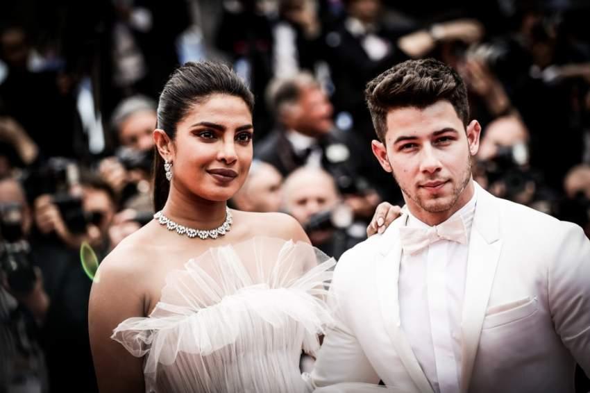 بريانكا تشوبرا مع زوجها في مهرجان كان 2019