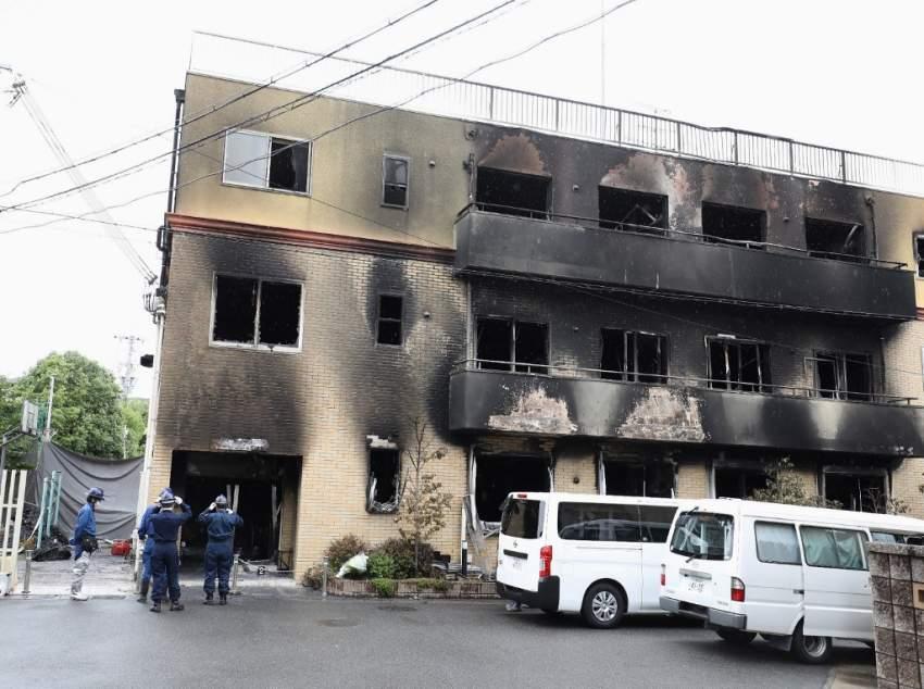 ارتفاع حصيلة ضحايا حريق استوديو الرسوم المتحركة باليابان إلى 33 قتيلاً