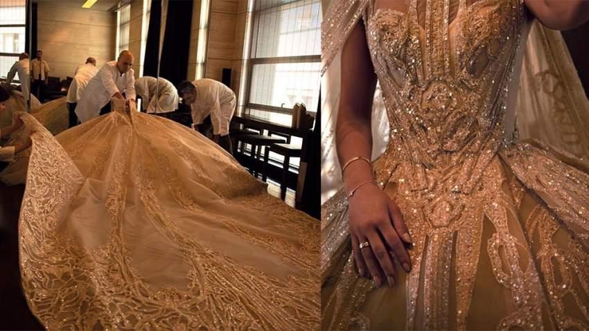 خلال تحضيرات فستان الزفاف