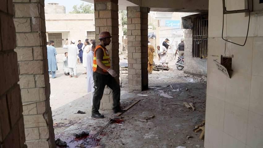 الانتحارية فجرت نفسها عند مدخل أحد المستشفيات
