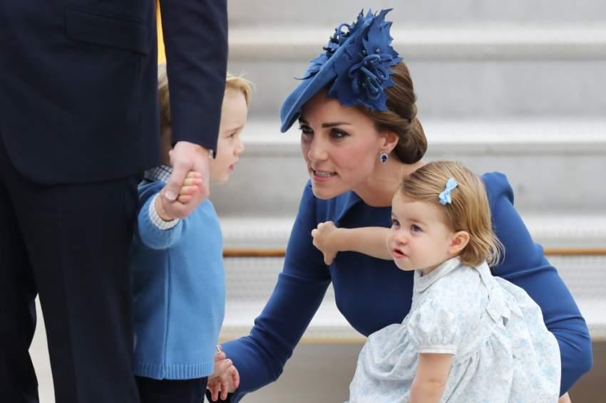 لحظة توبيخ من كيت ميدلتون لابنها الأمير جورج