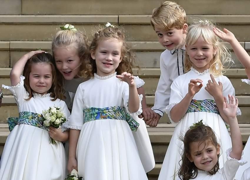 المشاكس الصغير الأمير جورج لا يترك مناسبة إلا ويترك من خلالها صورة طريفة