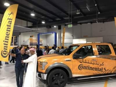 خلال افتتاح مركز جديد لشركة كونتيننتال في دبي. (الرؤية)