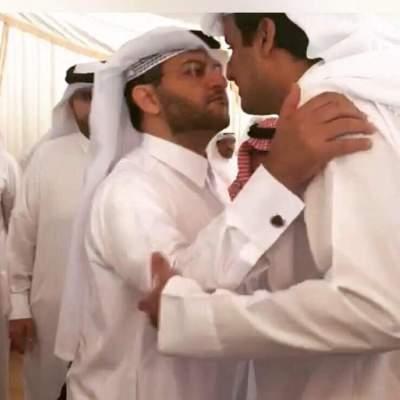 أمير قطر والمهندي.
