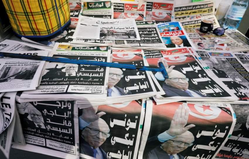 خبر وفاة الرئيس التونسي يتصدر جميع الصحف التونسية - رويترز