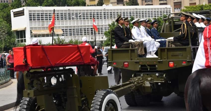 المراسم الرسمي لتشييع الرئيس الراحل الباجي قايد السبسي - رويترز