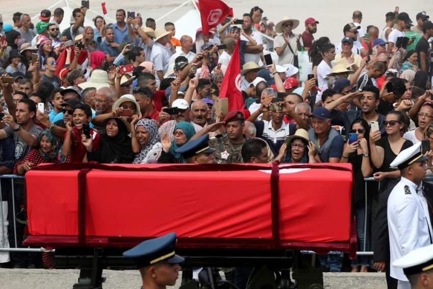 جثمان الرئيس الراحل الباجي قايد السبسي - رويترز