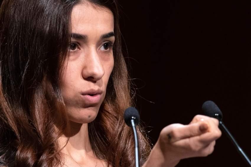 الناشطة الأيزيدية الحائزة جائزة نوبل للسلام لعام 2018 ناديا مراد