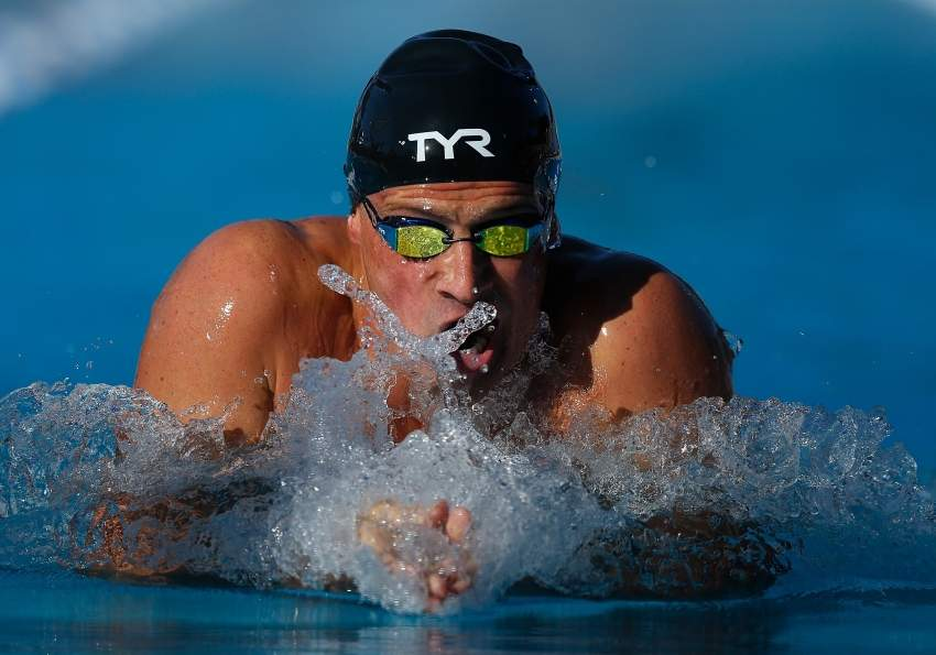 STANFORD, CALIFORNIA - AUGUST 04: Ryan Lochte swims in the Men's 200m Individual Medley during day 5 of the Phillips 66 National Championships on August 04, 2019 in Stanford, California. Lachlan Cunningham/Getty Images/AFP == FOR NEWSPAPERS, INTERNET, TELCOS & TELEVISION USE ONLY ==