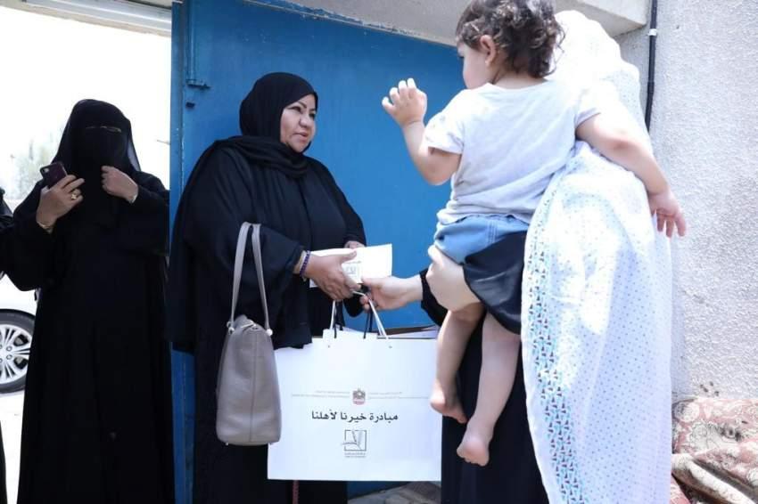 وزارة تنمية المجتمع تشارك الأسر المتعففة فرحة العيد