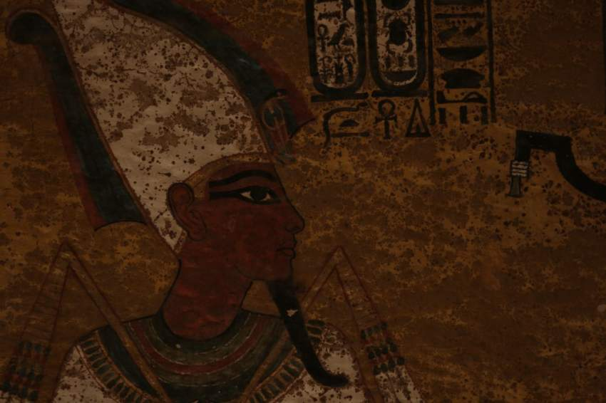 Egypt - Wall painting of Tutankhamun from KV62. (Windfall Films)