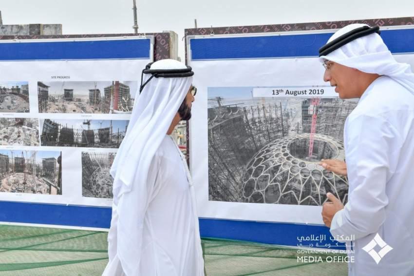 محمد بن راشد يتفقد مشاريع البنية التحتية لـ «إكسبو 2020 دبي»