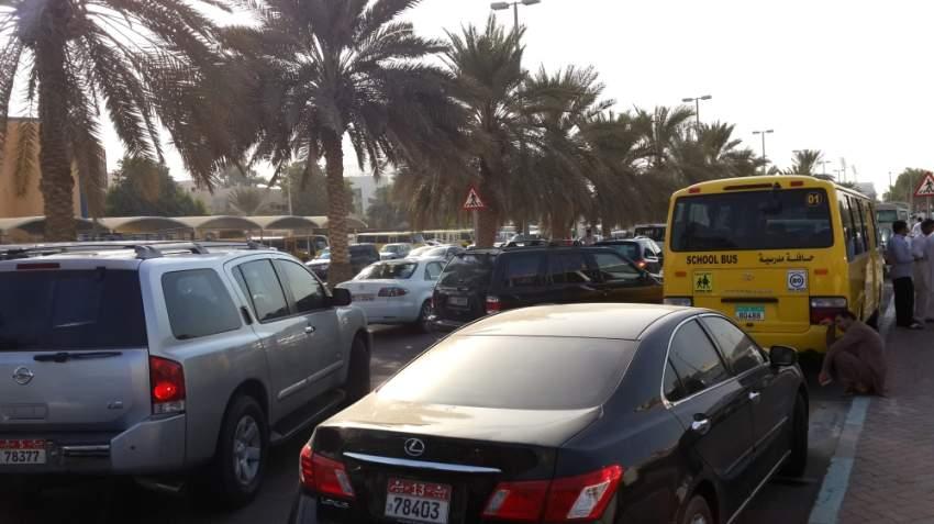 اليوم الاول من العام الدراسي  أزدحام مروري - أبوظبي