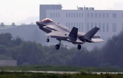 طائرة أمريكية من طراز (F-35A) خلال مهمة تدريب في كوريا الجنوبية. (إي بي إيه)