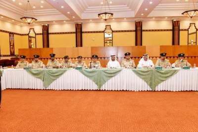 خلال اجتماع مجلس القيادات التنفيذية بشرطة دبي. (الرؤية)