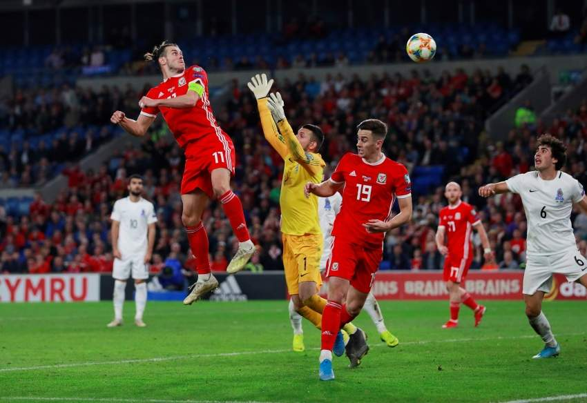 Soccer Football - Euro 2020 Qualifier - Group E - Wales v Azerbaijan - Cardiff City Stadium, Cardiff, Britain - September 6, 2019 Wales' Gareth Bale scores their second goal Action Images via Reuters/Andrew Couldridge