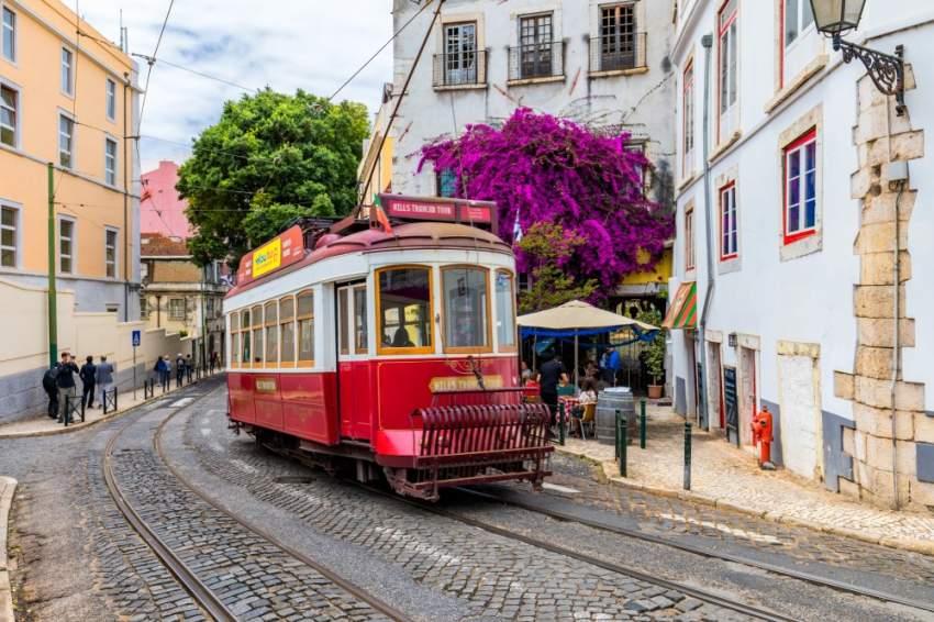شوارع لشبونة في البرتغال