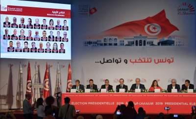 اثناء إعلان نتائج الانتخابات الرئاسية.