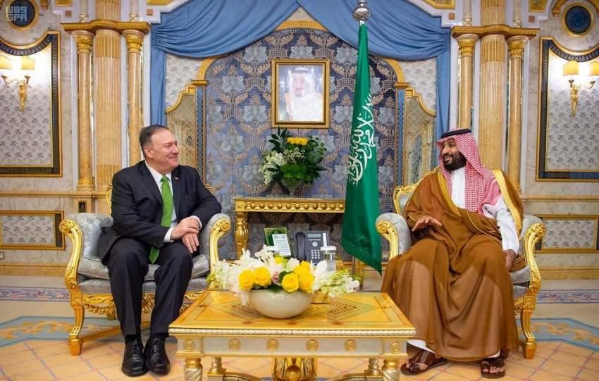 ولي العهد السعودي يلتقي وزير الخارجية الأمريكي