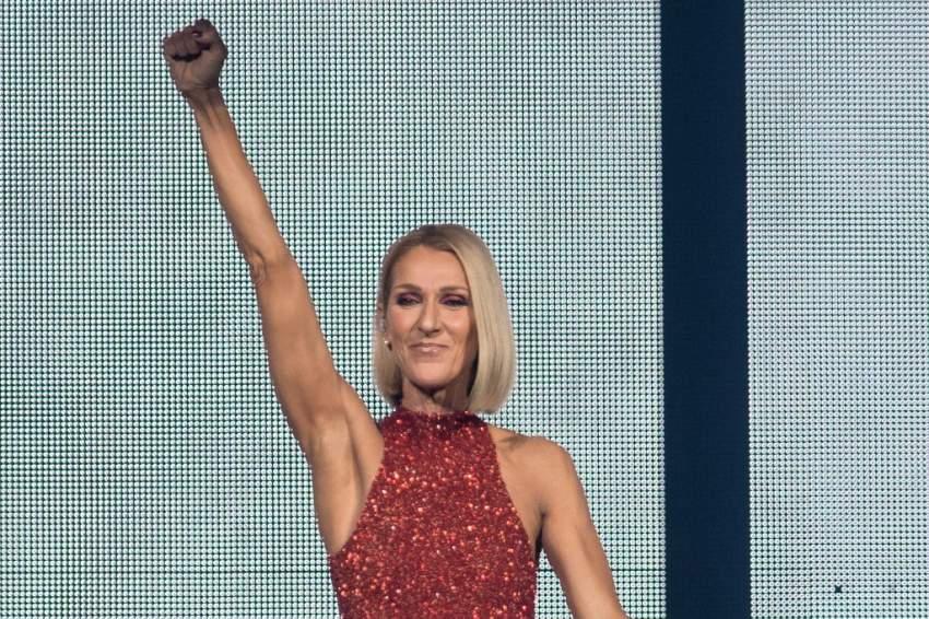 سيلين ديون تشعل الأجواء في أول حفل لها في جولتها العالمية - أ ف ب