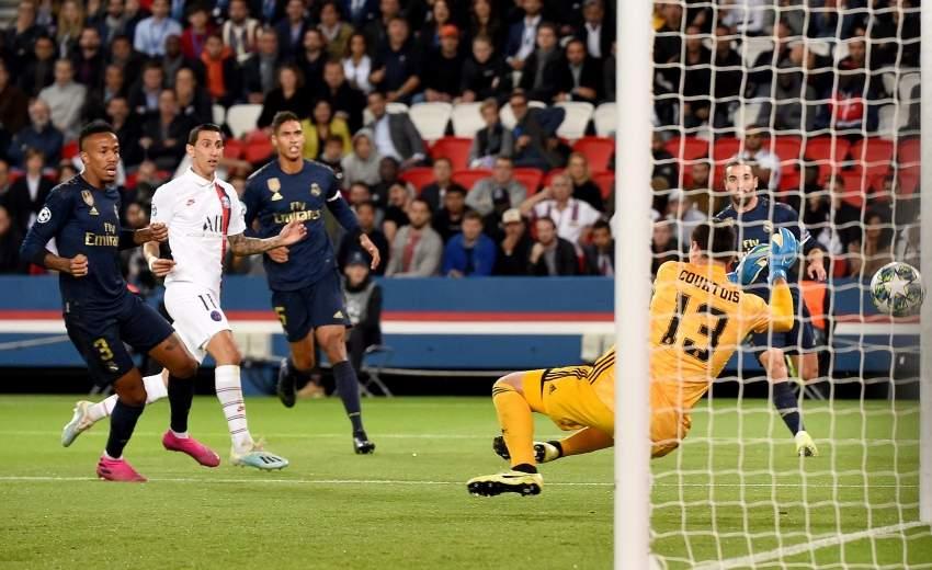 لقطة من مباراة ريال مدريد وباريس سان جيرمان