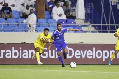 عبد الرحمن صالح في مباراة الديربي