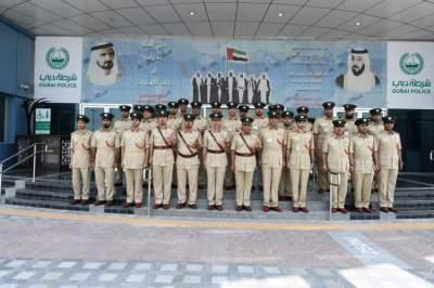 خلال تفقد القائد العام لشرطة دبي مركز شرطة البرشاء. (الرؤية)