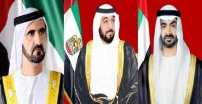 رئيس الدولة ونائبه ومحمد بن زايد يهنئون العاهل السعودي باليوم الوطني الـ 89 للمملكة