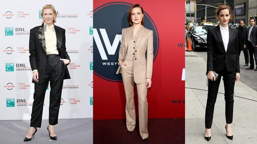 كيت بلانشيت ونجمات أخريات يفضلن البدلة الرجالية في العديد من المناسبات الرسمية