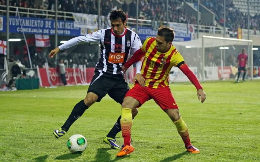 من مباراة ودية سابقة بين برشلونة وكارتاخينا