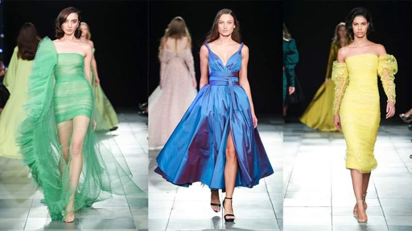 من تصاميم مرمر حليم التي عٌرضت في أسبوع الموضة العربي