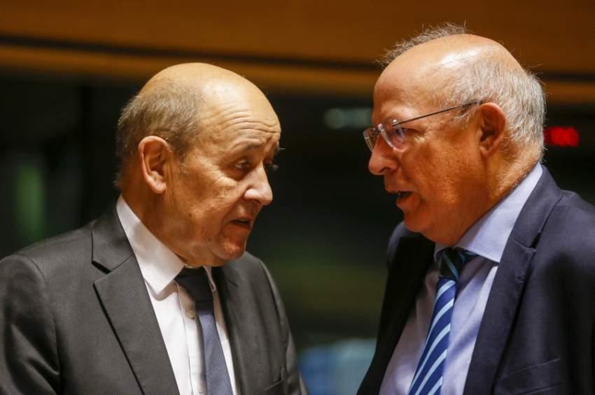 وزير الخارجية الفرنسي يتحدث إلى نظيره البرتغالي في بروكسل (إي بي أيه)