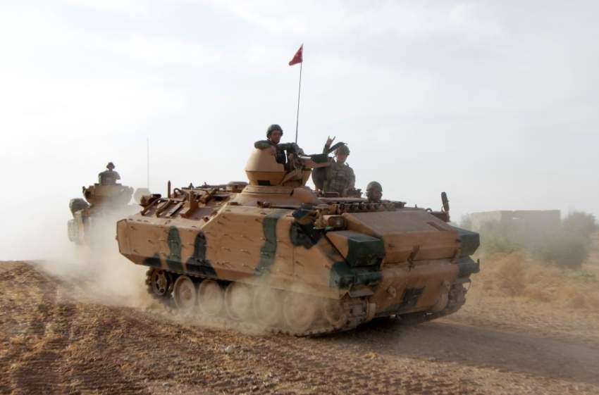 قوات تركية في سوريا. (أ ف ب)