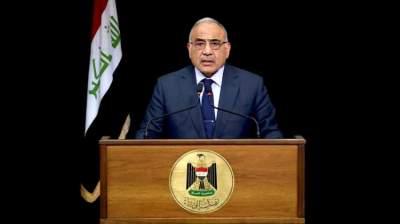 رئيس الحكومة العراقي عادل عبد المهدي في بغداد