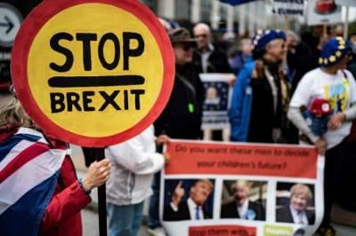 احتجاجات مناهضة لبريكست في بروكسل. (أ ف ب)