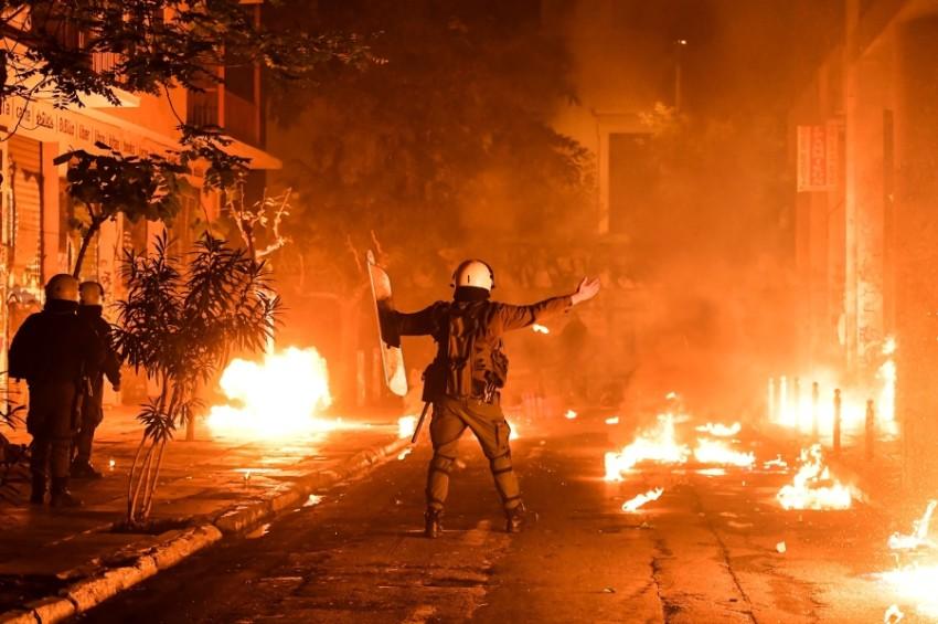 صورة أرشيفية لاحتجاجات 17 نوفمبر 2018 في أثينا (أ ف ب)