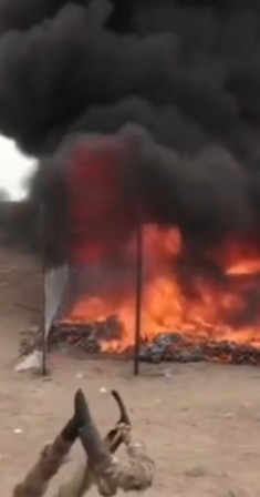 ضبط وإتلاف مخدرات للحوثيين.