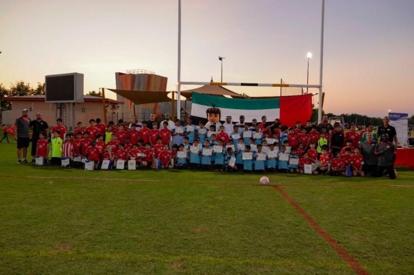 أكاديمية يونايتد تحتفل باليوم الوطني لدو لة الامارات بحضور أكاديمية الأبطال العمانية