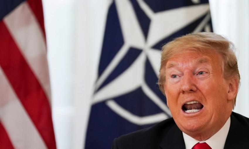 الرئيس الأمريكي دونالد ترامب في قمة الناتو بلندن (رويترز)