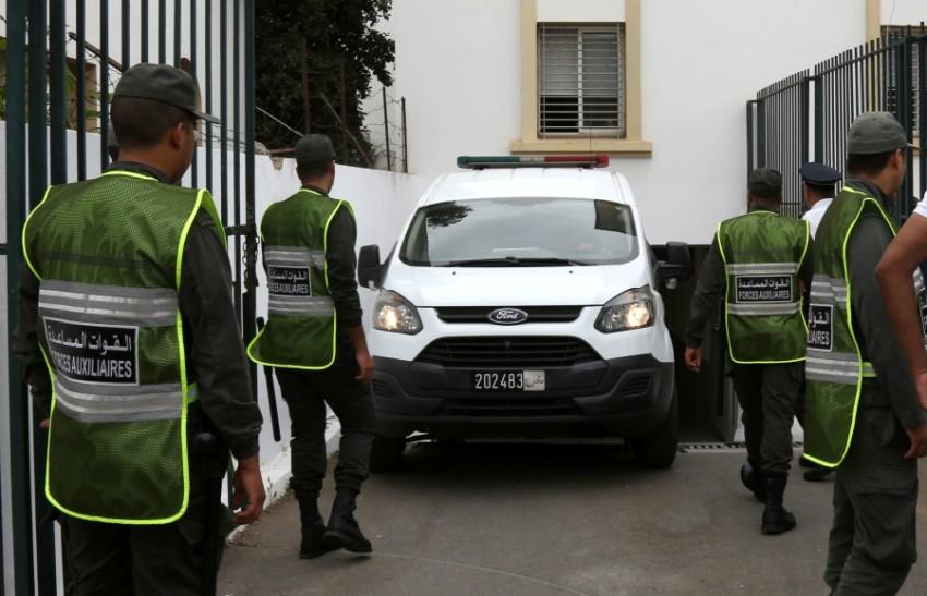 شاحنة شرطة في المغرب. (رويترز)