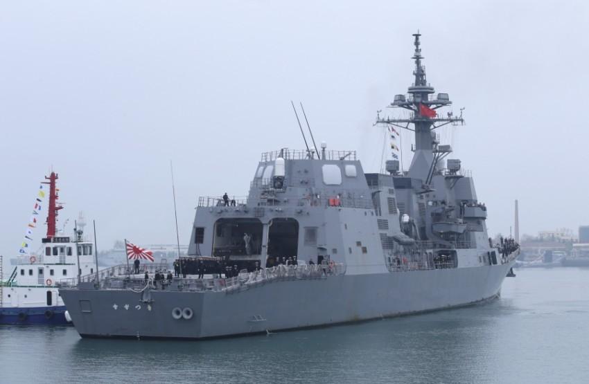 مدمرة من قوة الدفاع الذاتي البحرية اليابانية. (رويترز)