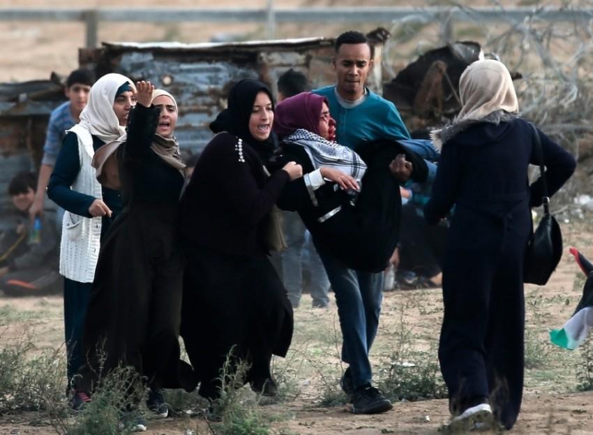 تصوير ناشطين فلسطينيين من الميدان.