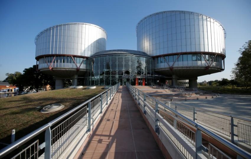 مقر المحكمة الأوروبية لحقوق الإنسان في ستراسبورج. (رويترز)